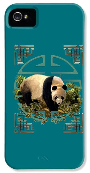 The Panda Bear And The Great Wall Of China IPhone 5 / 5s Case by Regina Femrite