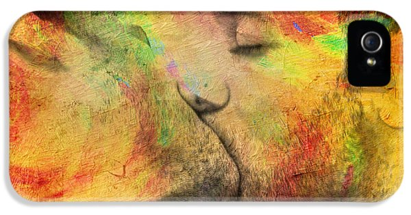 Gay Art iPhone 5 Cases - The Passion Of A Kiss 1 iPhone 5 Case by Mark Ashkenazi