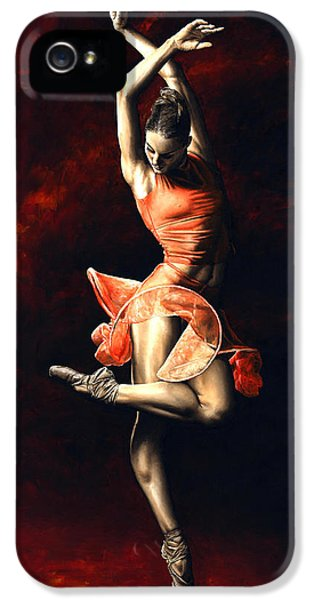 Beautiful Dancer iPhone 5 Cases - The Passion of Dance iPhone 5 Case by Richard Young