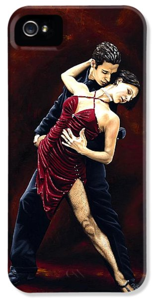 Emotion iPhone 5 Cases - The Passion of Tango iPhone 5 Case by Richard Young