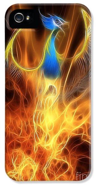 Phoenix iPhone 5 Cases - The Phoenix rises from the ashes iPhone 5 Case by John Edwards