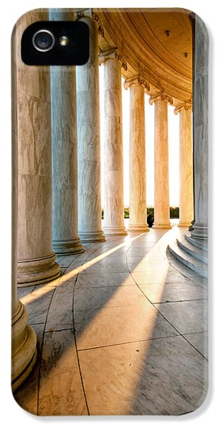 Declaration Of Independance iPhone 5 Cases - The Pillars of D.C. iPhone 5 Case by Greg Fortier