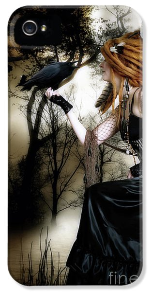 Steampunk iPhone 5 Cases - The Raven iPhone 5 Case by Shanina Conway