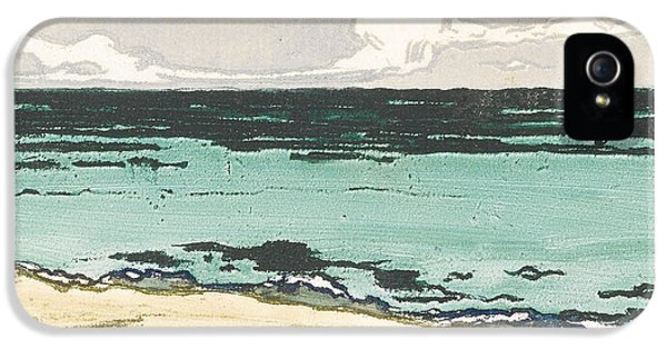 Fin De Siecle iPhone 5 Cases - The Sea at Bognor iPhone 5 Case by Theodore Roussel