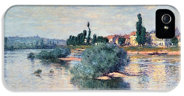 River iPhone 5 Cases - The Seine at Lavacourt iPhone 5 Case by Claude Monet