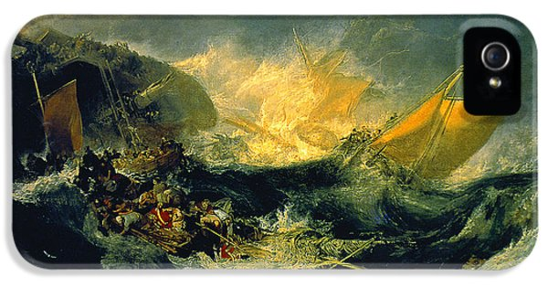 The Shipwreck Of The Minotaur IPhone 5 / 5s Case by JMW Turner