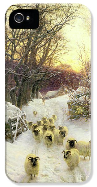 The Sun Had Closed The Winter's Day  IPhone 5 / 5s Case by Joseph Farquharson