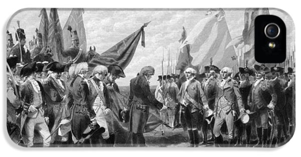 Continental iPhone 5 Cases - The Surrender Of Cornwallis At Yorktown iPhone 5 Case by War Is Hell Store