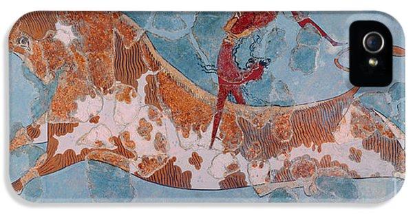 The Toreador Fresco, Knossos Palace, Crete IPhone 5 / 5s Case by Greek School