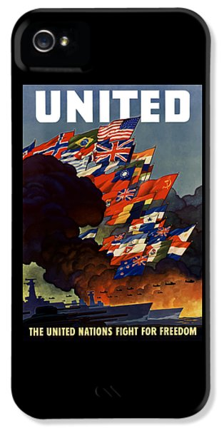 Political iPhone 5 Cases - The United Nations Fight For Freedom iPhone 5 Case by War Is Hell Store
