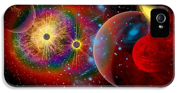 Spectrum iPhone 5 Cases - The Universe In A Perpetual State iPhone 5 Case by Mark Stevenson