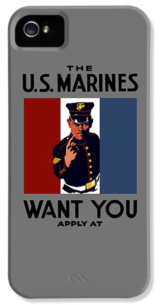 Rifle iPhone 5 Cases - The U.S. Marines Want You  iPhone 5 Case by War Is Hell Store