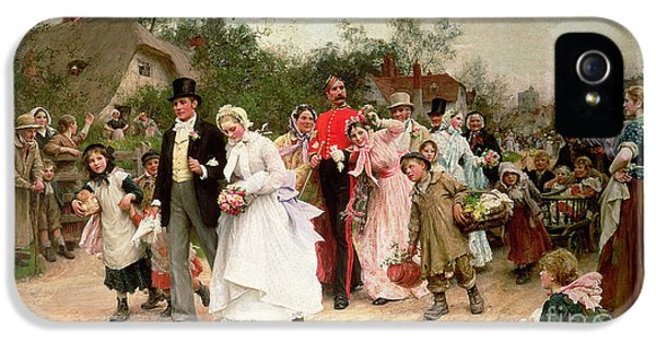 Oil House iPhone 5 Cases - The Village Wedding iPhone 5 Case by Sir Samuel Luke Fildes