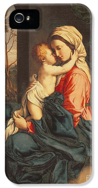 Son Of God iPhone 5 Cases - The Virgin and Child Embracing iPhone 5 Case by Giovanni Battista Salvi
