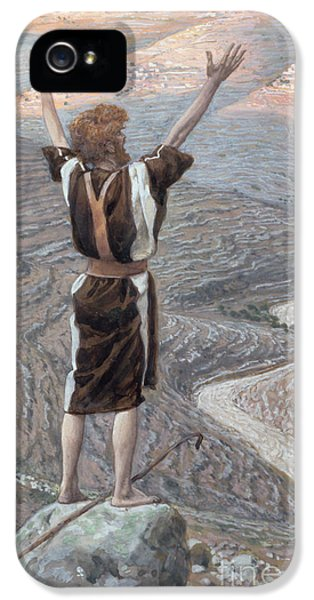 John The Baptist iPhone 5 Cases - The Voice in the Desert iPhone 5 Case by Tissot