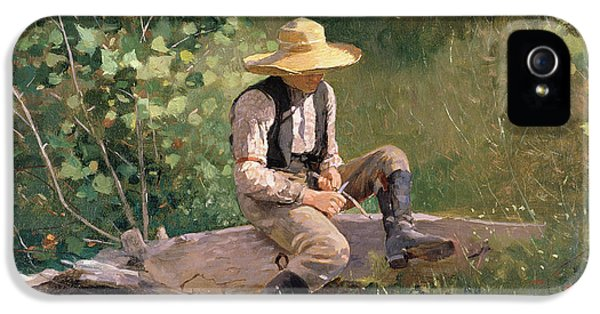 Homer iPhone 5 Cases - The Whittling Boy iPhone 5 Case by Winslow Homer