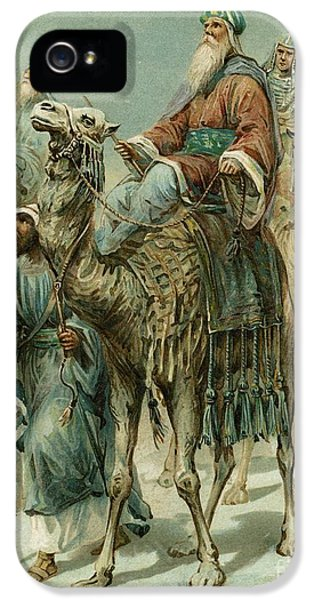 Riding iPhone 5 Cases - The Wise Men Seeking Jesus iPhone 5 Case by Ambrose Dudley