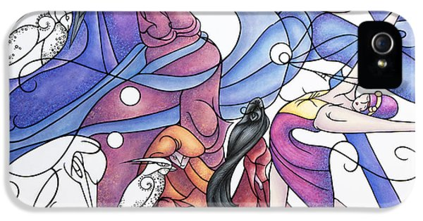 Fantasy iPhone 5 Cases - The Wizards Daughter iPhone 5 Case by Judy Henninger