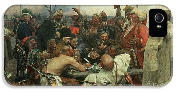 The Zaporozhye Cossacks Writing A Letter To The Turkish Sultan IPhone 5 / 5s Case by Ilya Efimovich Repin