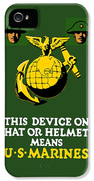 This Device Means Us Marines  IPhone 5 / 5s Case by War Is Hell Store