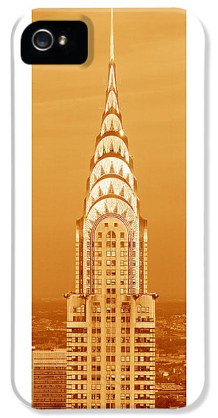 Chrysler Building At Sunset IPhone 5 / 5s Case by Panoramic Images
