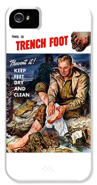 Medical iPhone 5 Cases - This Is Trench Foot - Prevent It iPhone 5 Case by War Is Hell Store