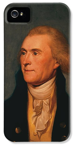 July 4th iPhone 5 Cases - Thomas Jefferson iPhone 5 Case by War Is Hell Store