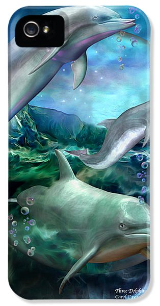 Three Dolphins IPhone 5 / 5s Case by Carol Cavalaris