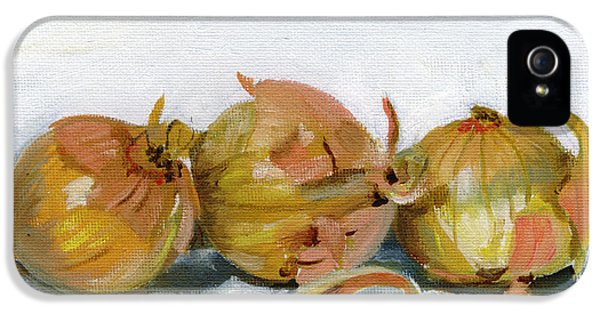 Food iPhone 5 Cases - Three Onions iPhone 5 Case by Sarah Lynch