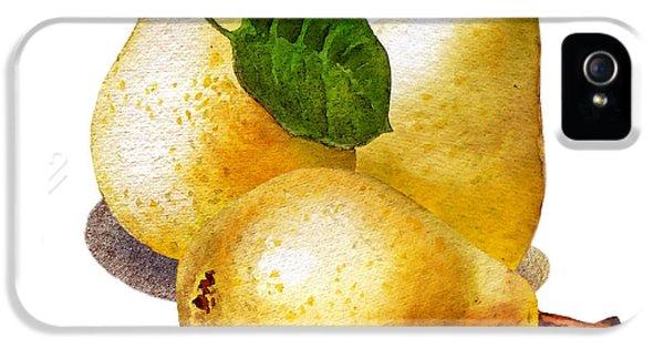 Three iPhone 5 Cases - Three Pears iPhone 5 Case by Irina Sztukowski
