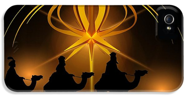 Three Wise Men Christmas Card IPhone 5 / 5s Case by Bellesouth Studio