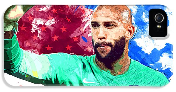 Tim Howard IPhone 5 / 5s Case by Semih Yurdabak