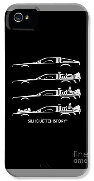 Time Machine Silhouettehistory IPhone 5 / 5s Case by Gabor Vida