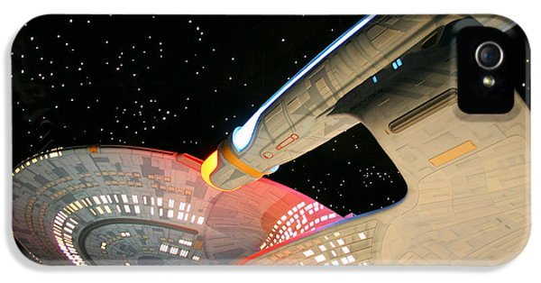 Spaceships iPhone 5 Cases - To Boldly Go iPhone 5 Case by Kristin Elmquist