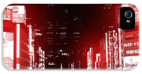 Downtown iPhone 5 Cases - Tokyo Street iPhone 5 Case by Naxart Studio