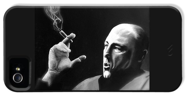Tony Soprano iPhone 5 Cases - Tony iPhone 5 Case by Benjamin Gassmann
