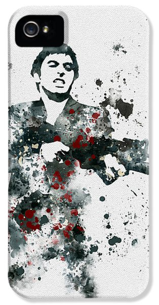 Brian De Palma iPhone 5 Cases - Tony Montana iPhone 5 Case by Rebecca Jenkins
