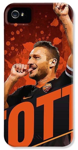 Totti IPhone 5 / 5s Case by Semih Yurdabak