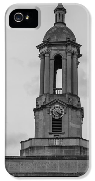 Tower At Old Main Penn State IPhone 5 / 5s Case by John McGraw
