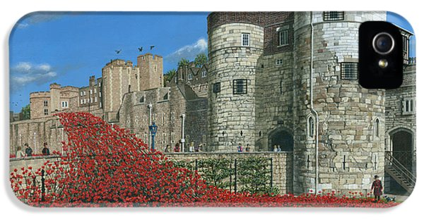 Tower Of London Poppies - Blood Swept Lands And Seas Of Red  IPhone 5 / 5s Case by Richard Harpum