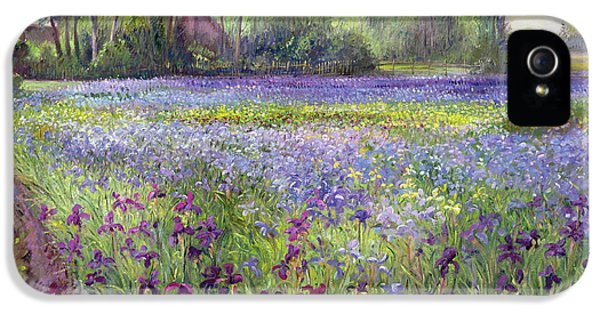Trackway Past The Iris Field IPhone 5 / 5s Case by Timothy Easton