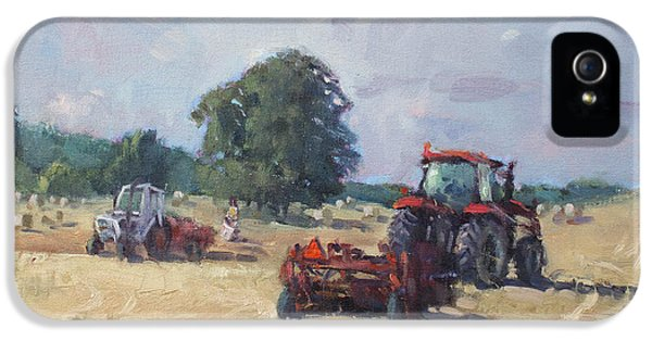 Tractors In The Farm Georgetown IPhone 5 / 5s Case by Ylli Haruni