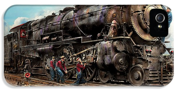 Train - Working On The Railroad 1930 IPhone 5 / 5s Case by Mike Savad