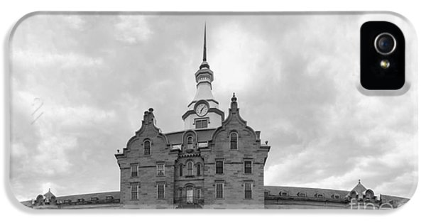 Lunacy iPhone 5 Cases - Trans Allegheny Lunatic Asylum in black and white iPhone 5 Case by Karen Foley