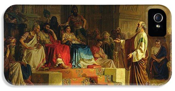 Trial Of The Apostle Paul IPhone 5 / 5s Case by Nikolai K Bodarevski
