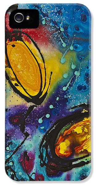 Abstract Canvas iPhone 5 Cases - Tropical Flower Fish iPhone 5 Case by Sharon Cummings