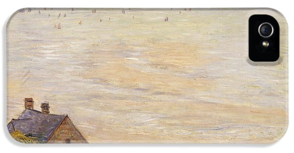 Hut iPhone 5 Cases - Trouville at Low Tide iPhone 5 Case by Claude Monet