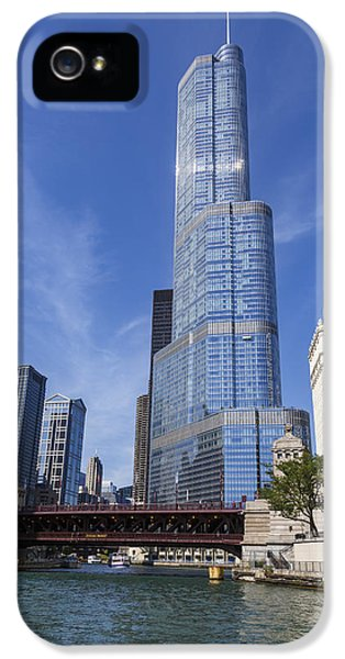 Wrigley iPhone 5 Cases - Trump Tower Chicago iPhone 5 Case by Adam Romanowicz