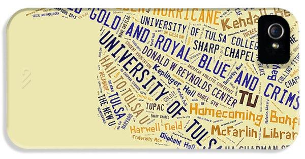 Tu Word Art University Of Tulsa IPhone 5 / 5s Case by Roberta Peake