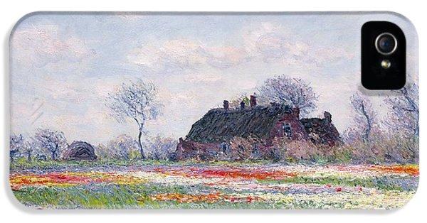 Tulip Fields At Sassenheim IPhone 5 / 5s Case by Claude Monet